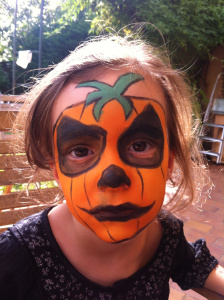 Tutoriel maquillage citrouille halloween archives lud 39 veil - Maquillage halloween citrouille ...