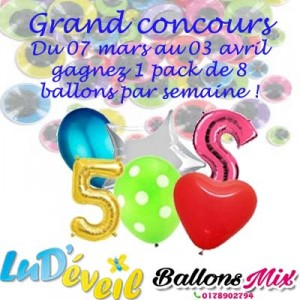 affiche concours ballons Helium