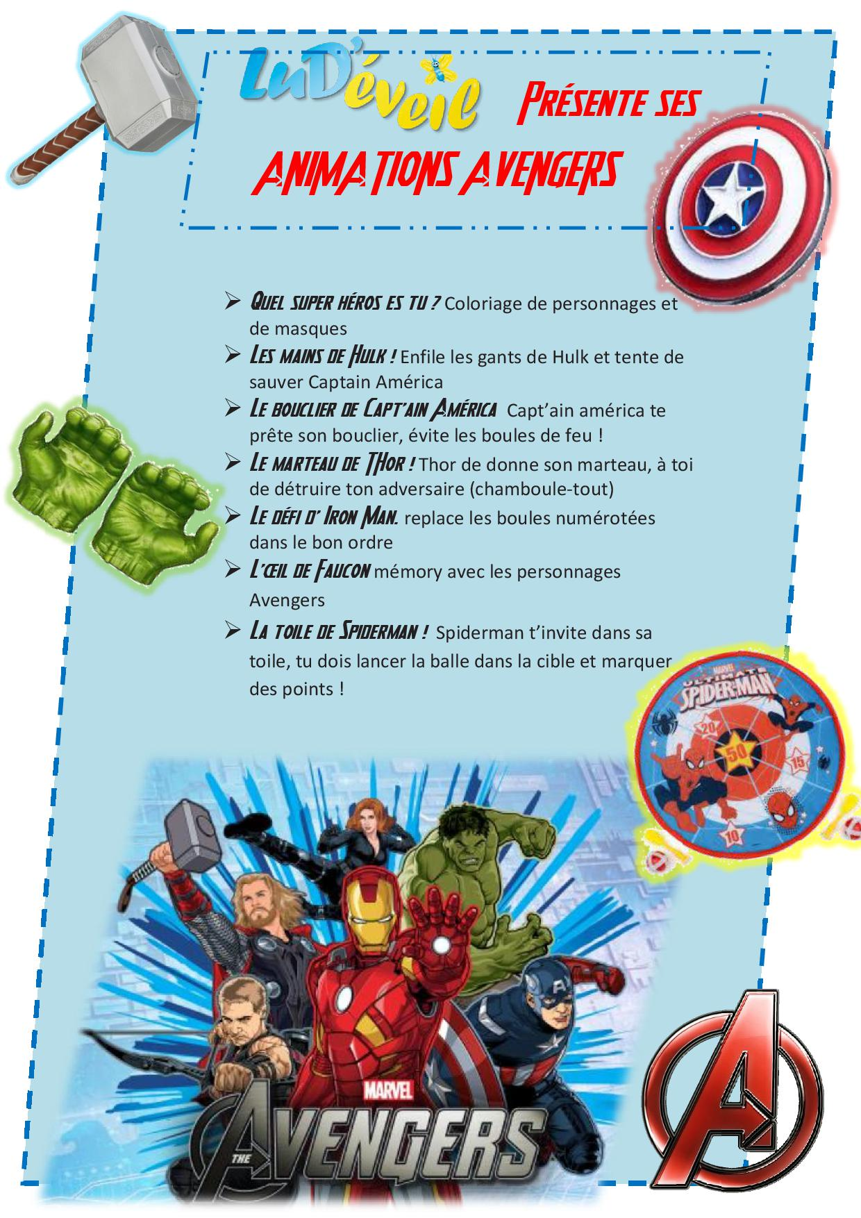 Decoration Enfant Avengers